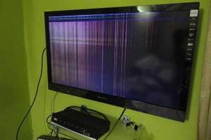 سیاه شدن تصویر تلویزیون سونی