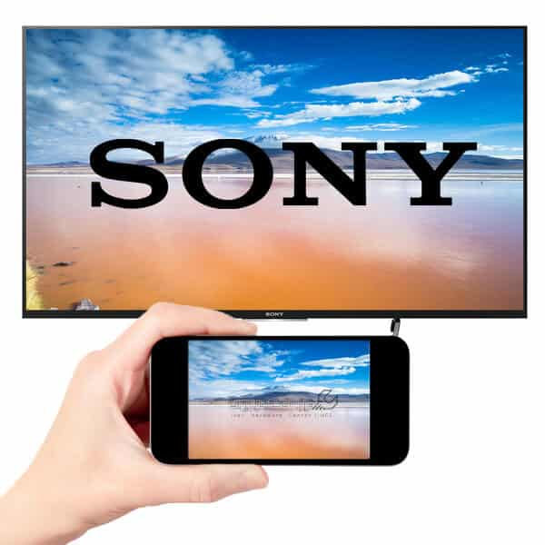 اتصال موبایل به تلویزیون سونی