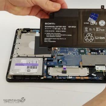 تعمیر باتری لپ تاپ سونی