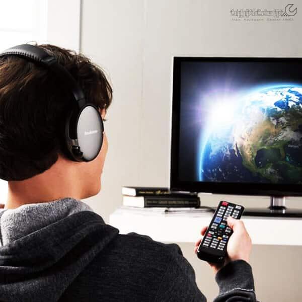 پخش همزمان صدای تلویزیون از هدفون و از بلندگو