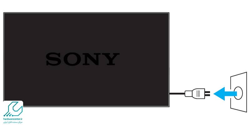 بازگشت به تنظیمات کارخانه تلویزیون sony به روش Power Reset